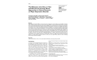 Article: animal research – MDD