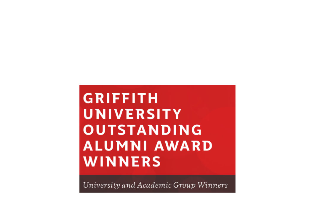 Award: Griffith U Science Group Outstanding Alumnus 2020