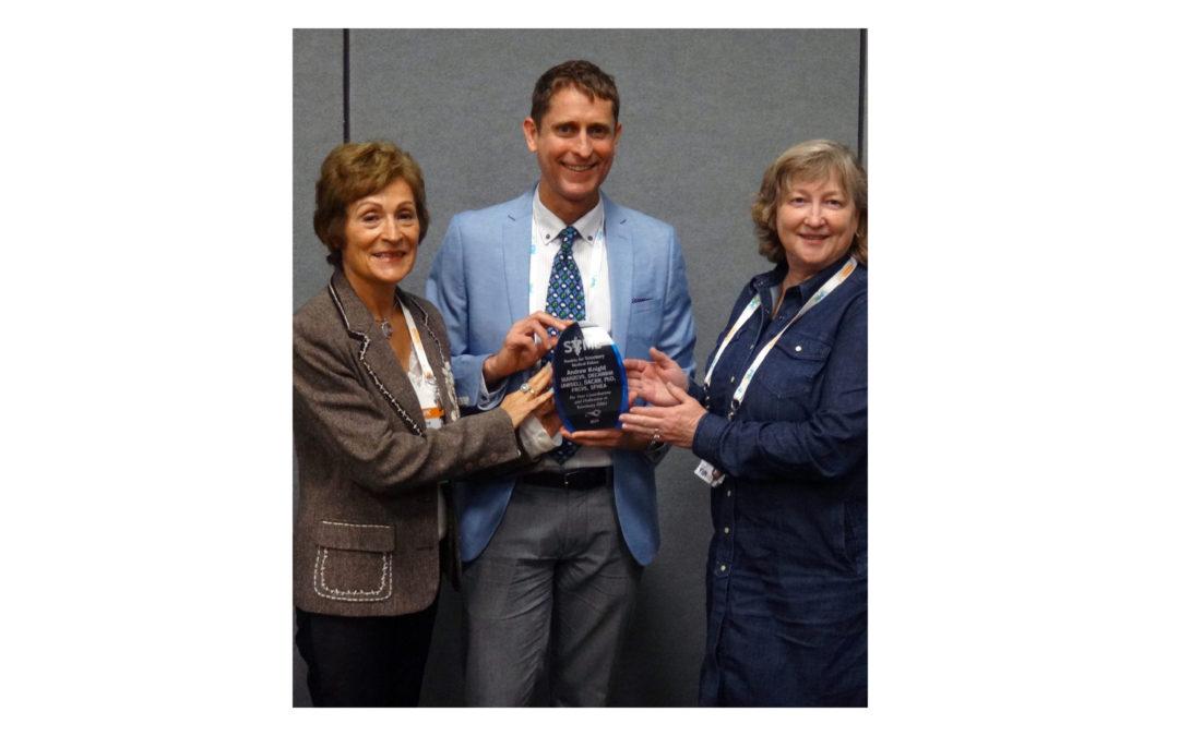 Award: SVME Shomer Award 2019