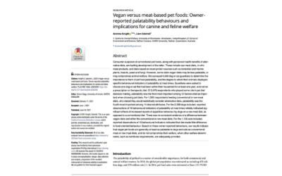 Article: pet food palatability